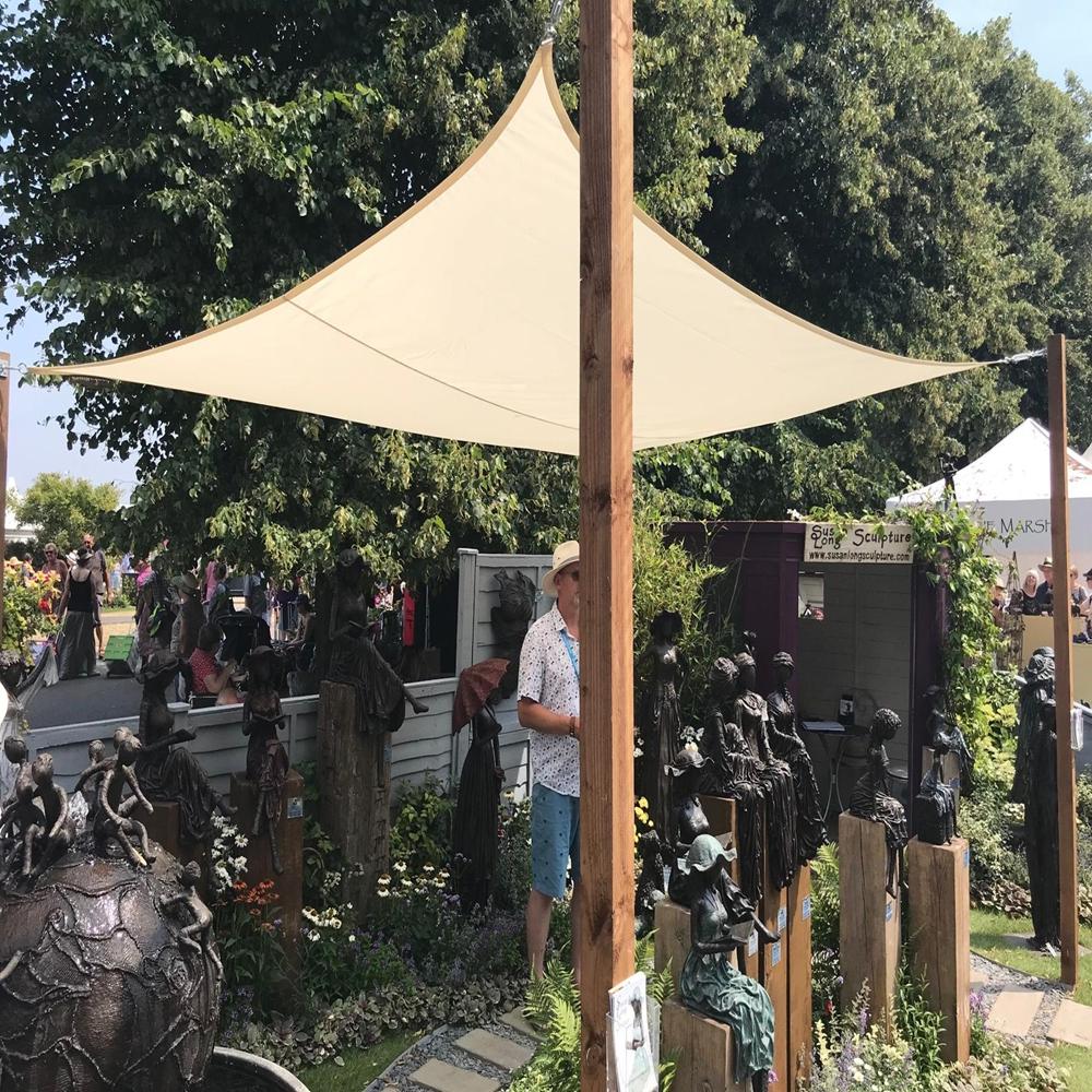 miniatura 29 - Tenda a vela triangolare ombreggiante telo da sole ombra giardino parasole