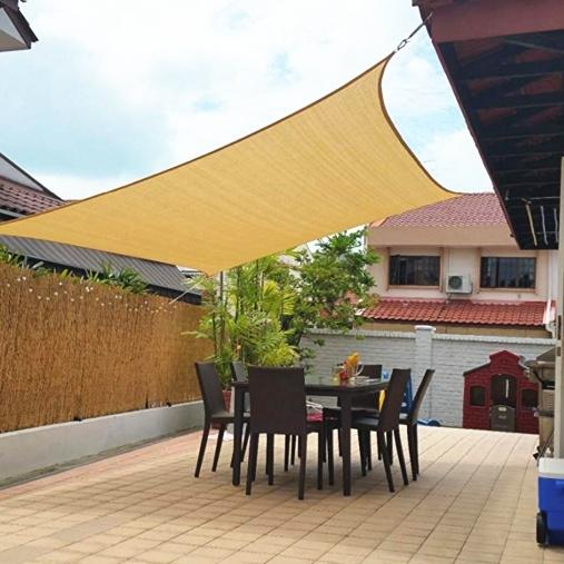 miniatura 41 - Tenda a vela triangolare ombreggiante telo da sole ombra giardino parasole