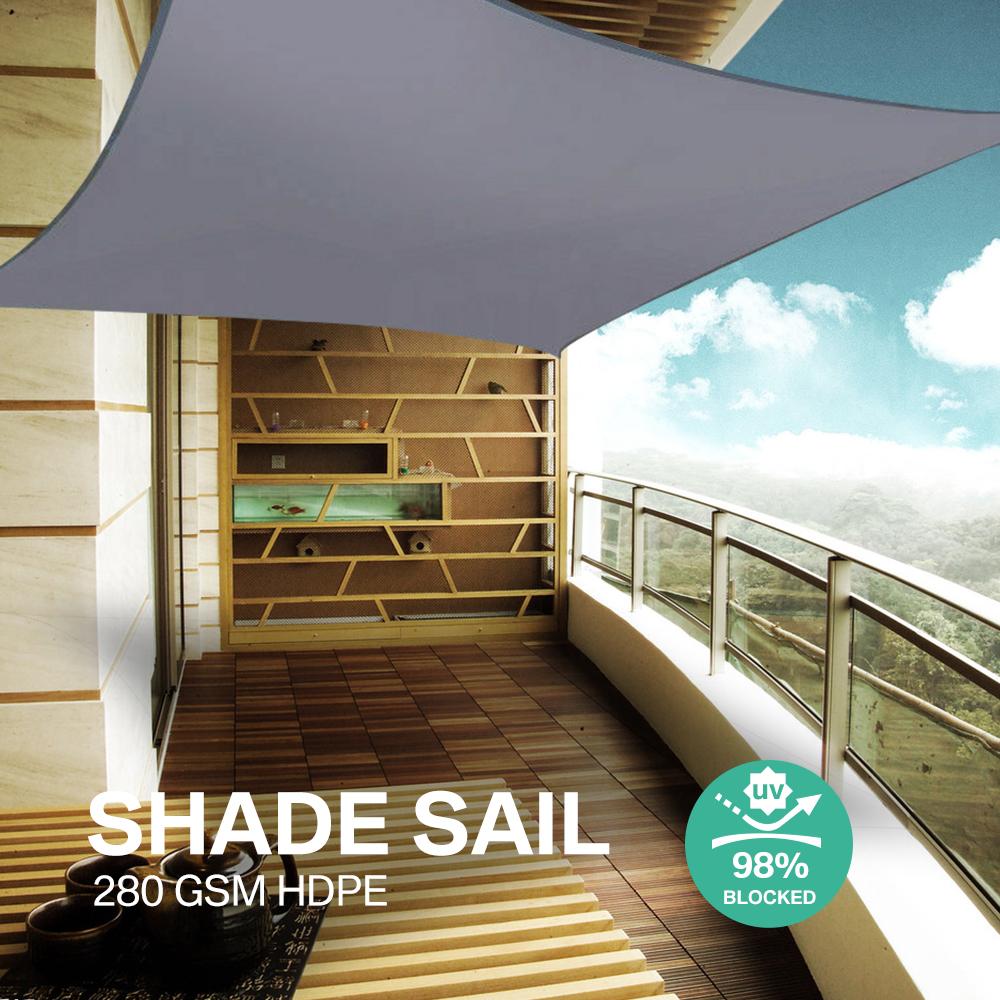 miniatura 16 - Tenda a Vela Telo sole Parasole Tenda Quadrato Ombreggiante Giardino Parasole