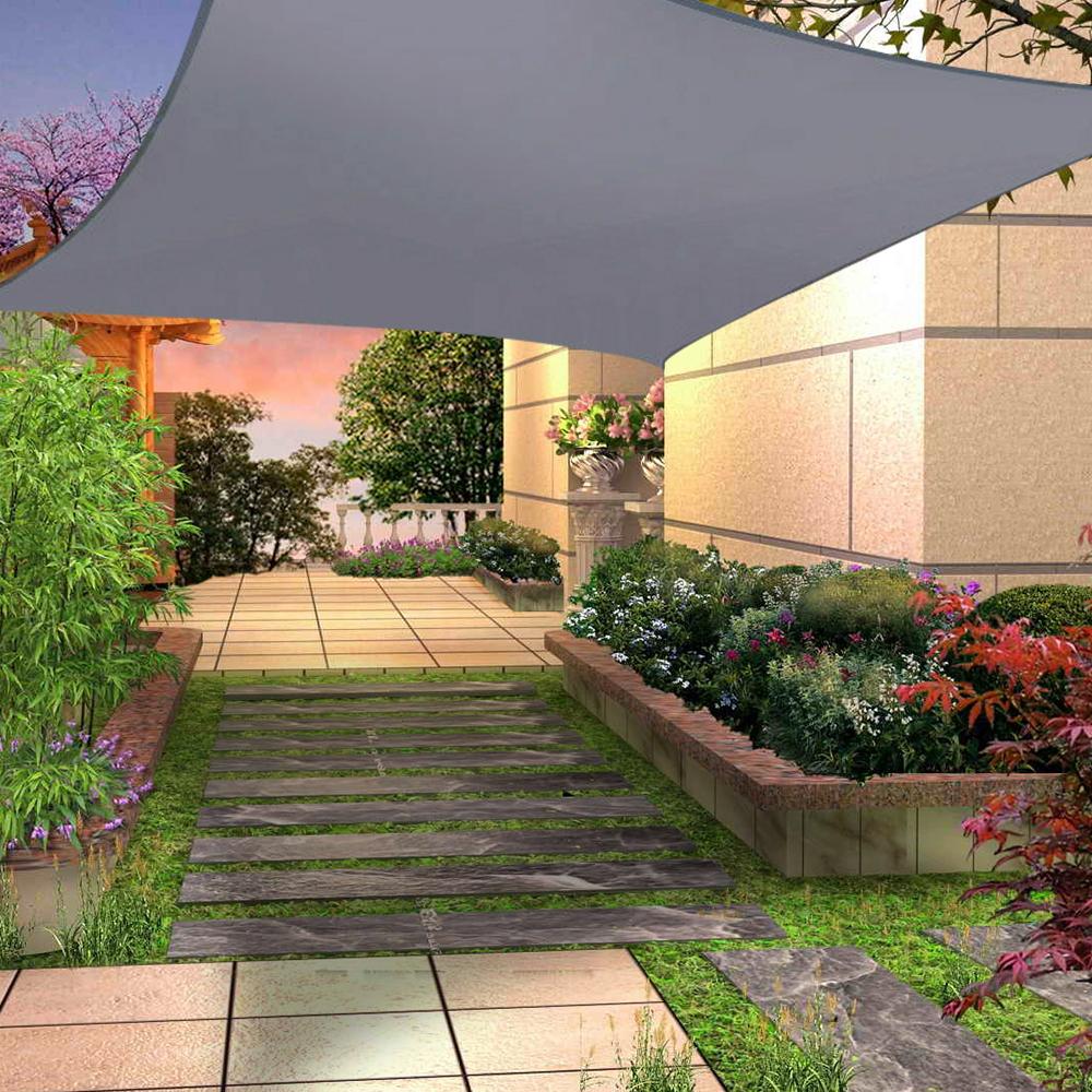 miniatura 17 - Tenda a Vela Telo sole Parasole Tenda Quadrato Ombreggiante Giardino Parasole