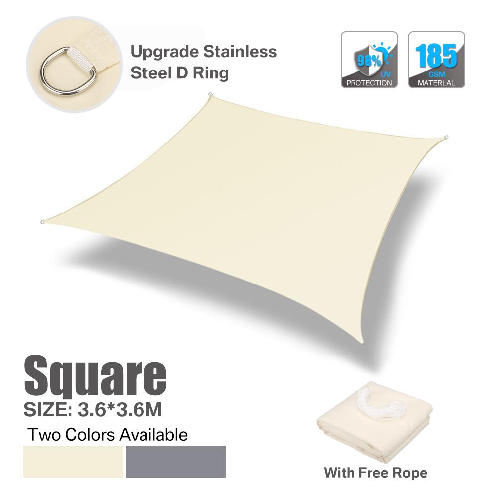 miniatura 21 - Tenda a Vela Telo sole Parasole Tenda Quadrato Ombreggiante Giardino Parasole