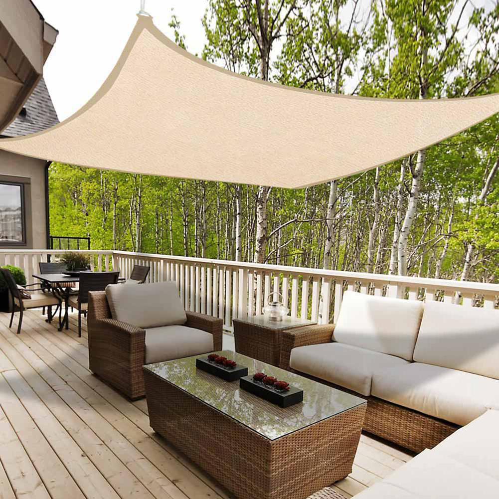 miniatura 12 - Vela Telo Parasole Tenda Triangolare Rettangolo Ombreggiante Giardino in HDPE