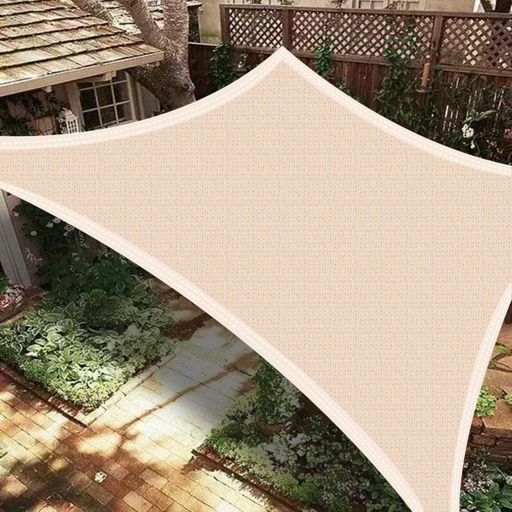 miniatura 13 - Vela Telo Parasole Tenda Triangolare Rettangolo Ombreggiante Giardino in HDPE