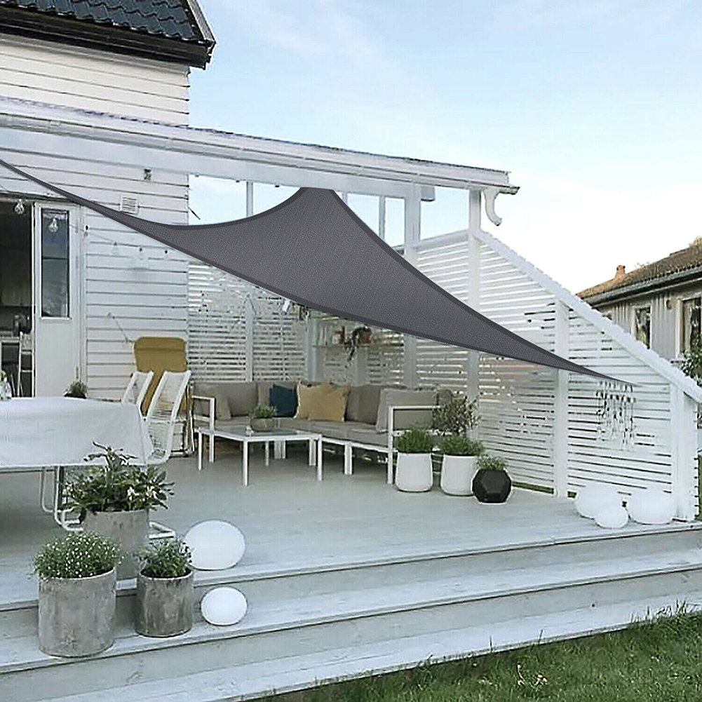 miniatura 17 - Vela Telo Parasole Tenda Triangolare Rettangolo Ombreggiante Giardino in HDPE