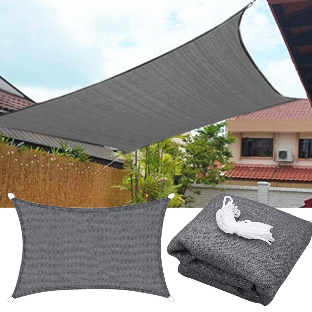 miniatura 18 - Vela Telo Parasole Tenda Triangolare Rettangolo Ombreggiante Giardino in HDPE