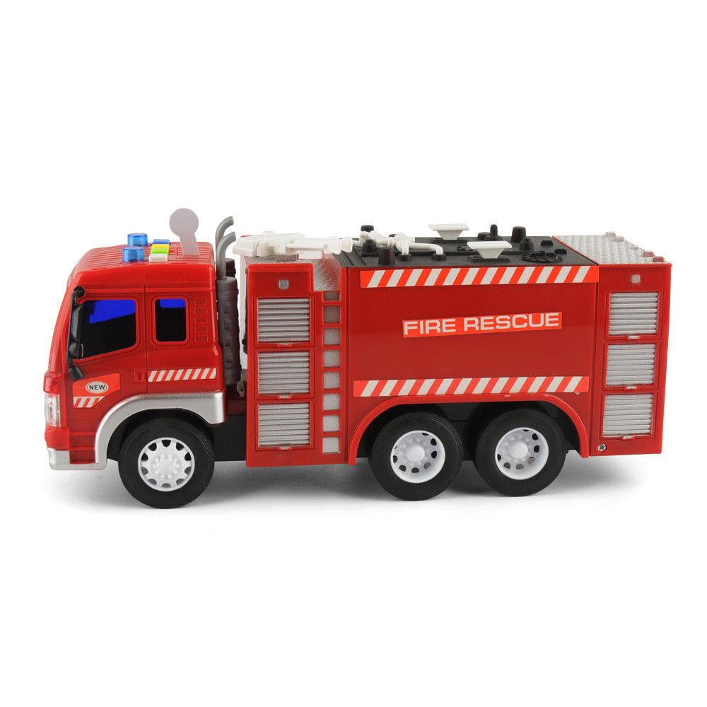 1 16 kleinkinder spielzeug fire truck fahrzeuge mit licht. Black Bedroom Furniture Sets. Home Design Ideas