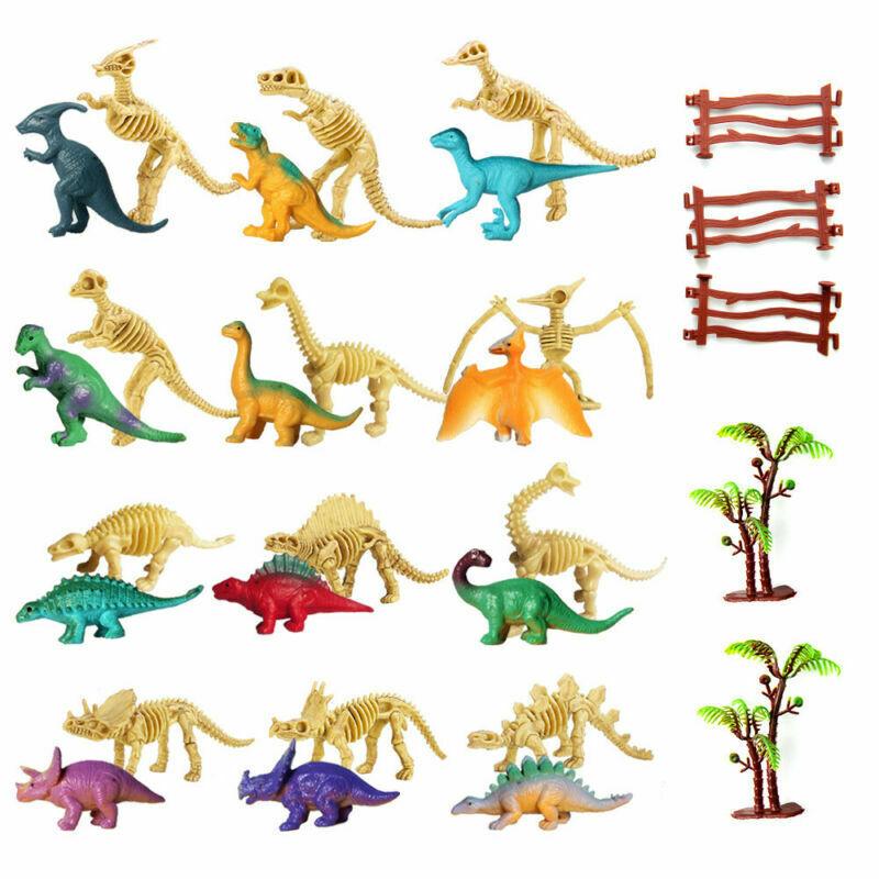 7 cm groß Mitgebsel Kindergeburtstag 24 Stück Dinosaurier verschiedene Arten ca