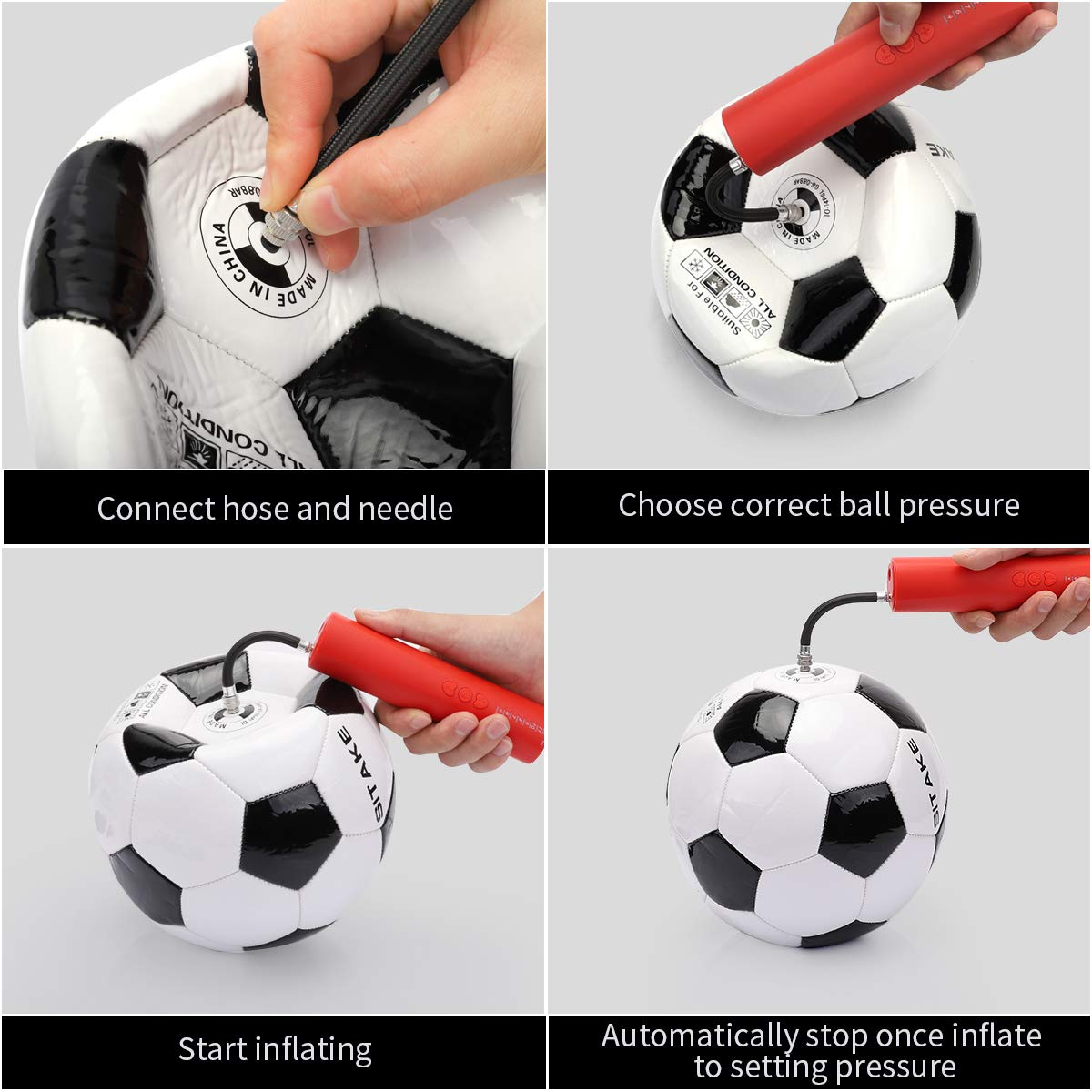 Elektrische Mini Fahrradpumpe Luftpumpe Ball-Pumpe Handpumpe Ball Fußball Nadeln