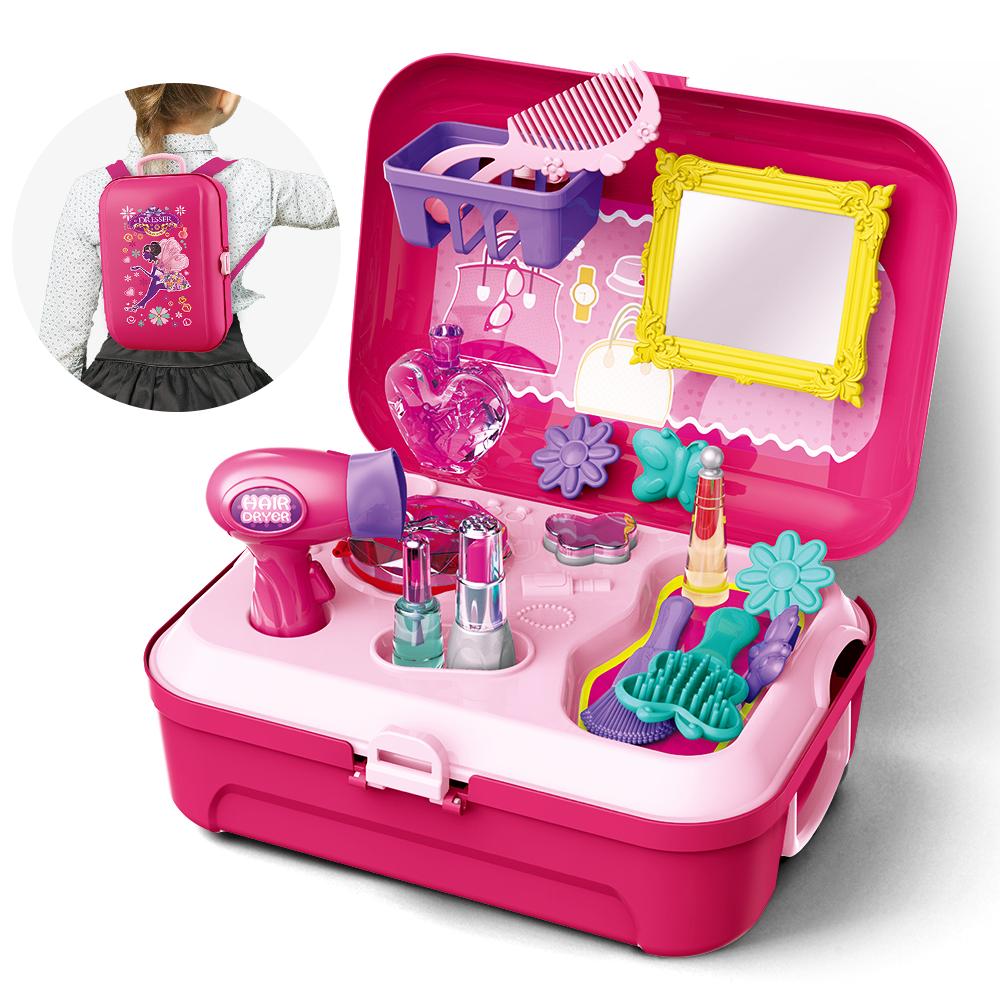 Beauty Koffer Mädchen Kosmetikkoffer Holz Spielzeug Kinder