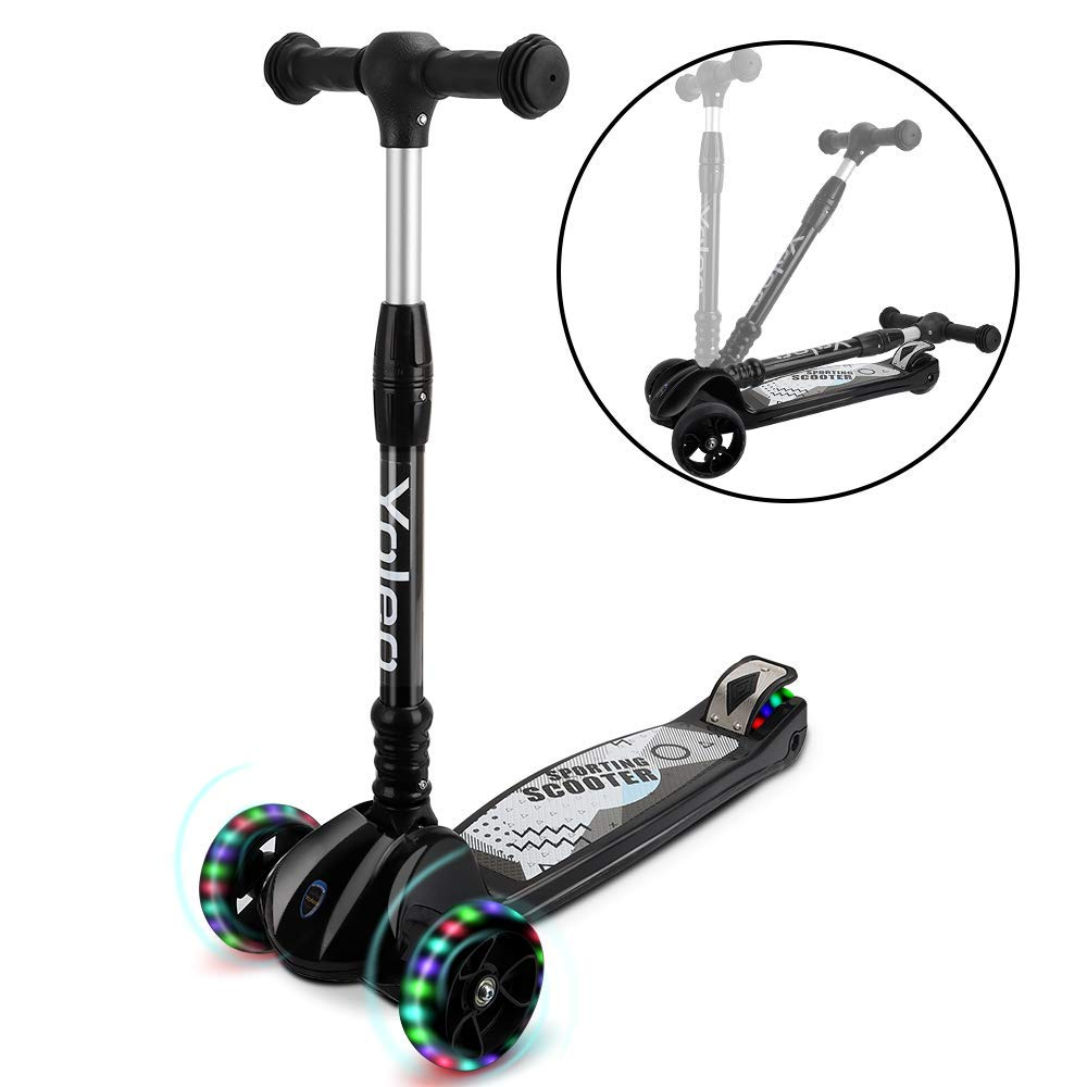 led scooter roller kinderroller tretroller cityroller kickroller kinder klappbar ebay. Black Bedroom Furniture Sets. Home Design Ideas