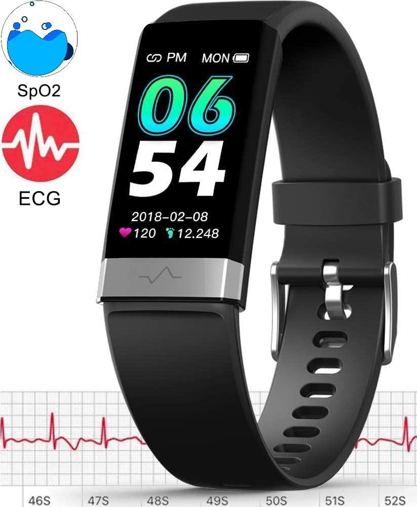 E-CG Monitoruhr Körpertemperatur Smart Watch Herzfrequenz..