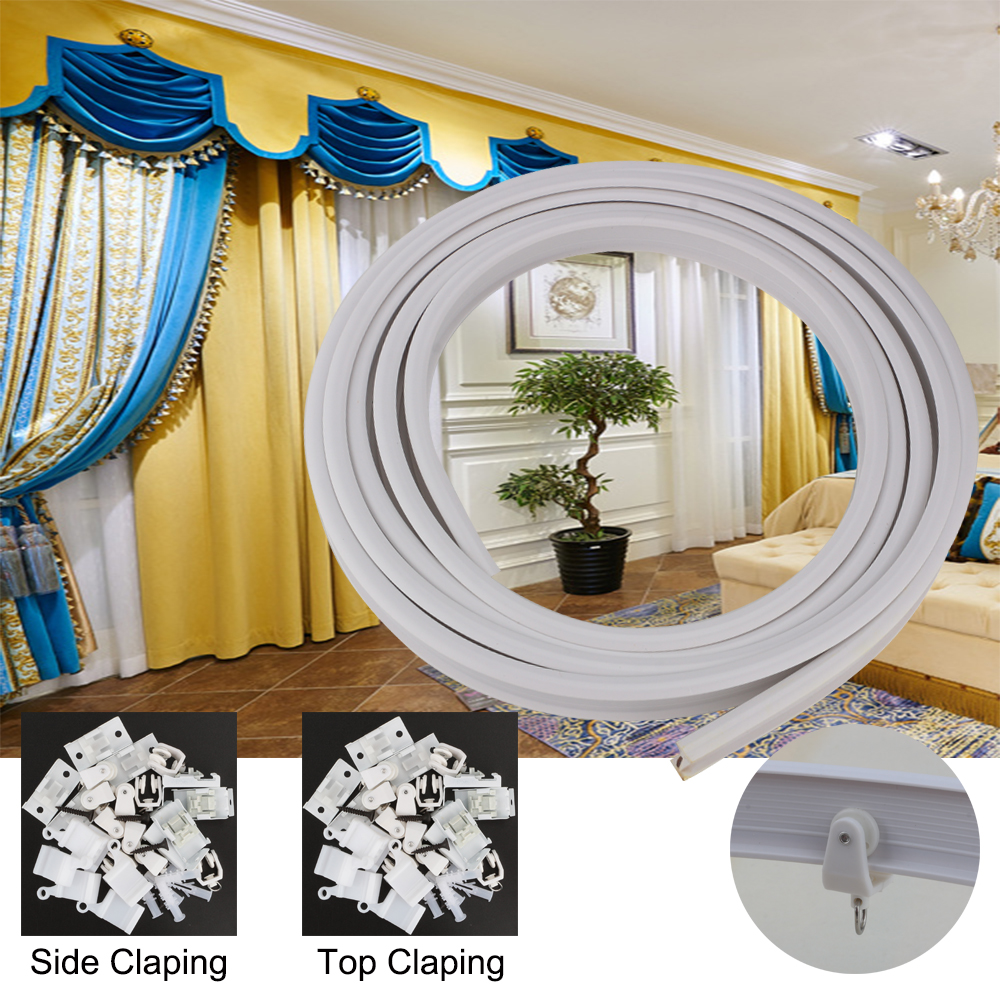 4M Bendable Plastic Curtain Track For Straight Bay Window