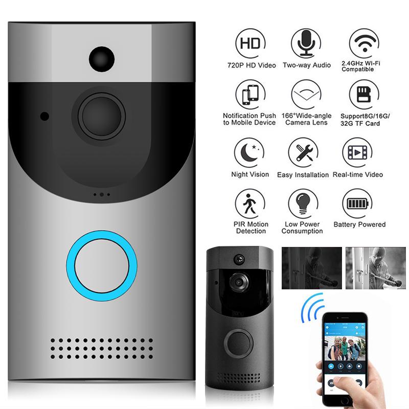 WiFi Türklingel WLAN Drahtlose 720P Video PIR Nachtsicht Haus Haus Haus Sicherheit Visuell 11e77a