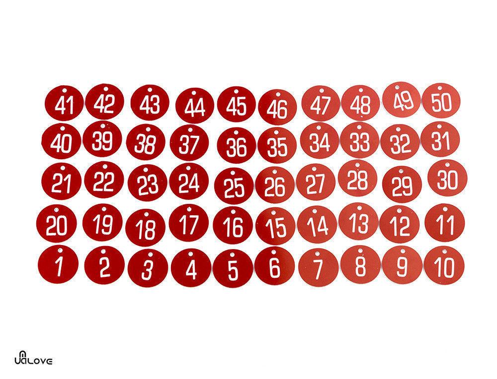 1-100 3cm Laser Engraved Number Discs//Table//Tags//Locker//Pub//Restaurant//Clubs UK