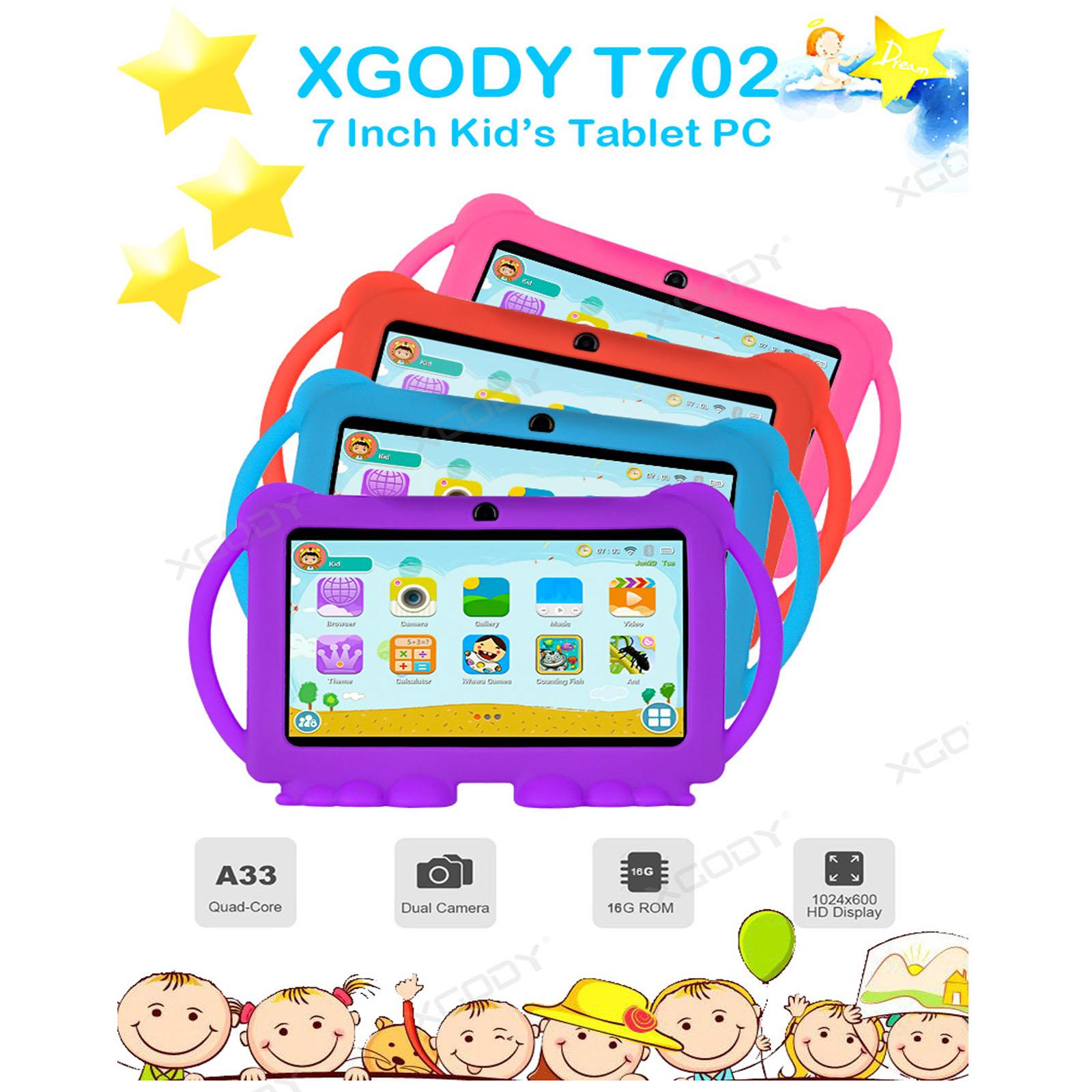 Android-8-1-7-Pulgadas-HD-Tableta-Infantil-ninos-QuadCore-1-16GB-XGODY-Tablet-PC miniatura 2