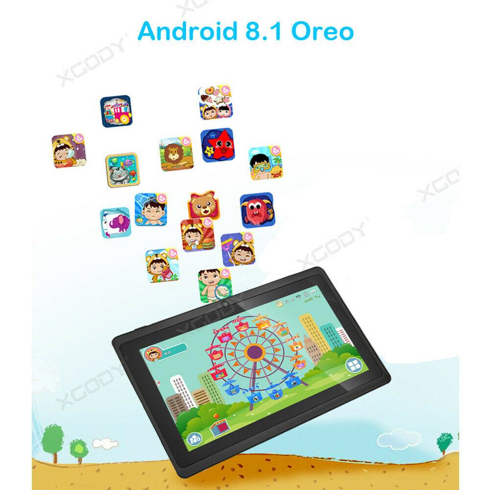 Android-8-1-7-Pulgadas-HD-Tableta-Infantil-ninos-QuadCore-1-16GB-XGODY-Tablet-PC miniatura 3