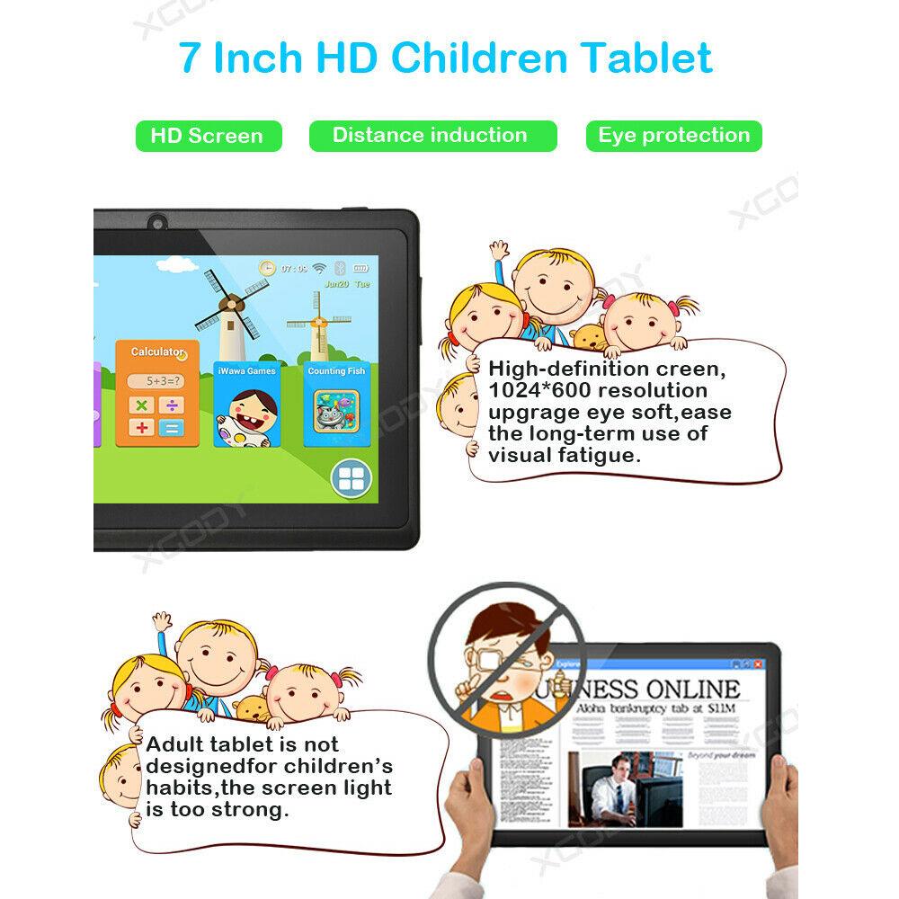 Android-8-1-7-Pulgadas-HD-Tableta-Infantil-ninos-QuadCore-1-16GB-XGODY-Tablet-PC miniatura 4