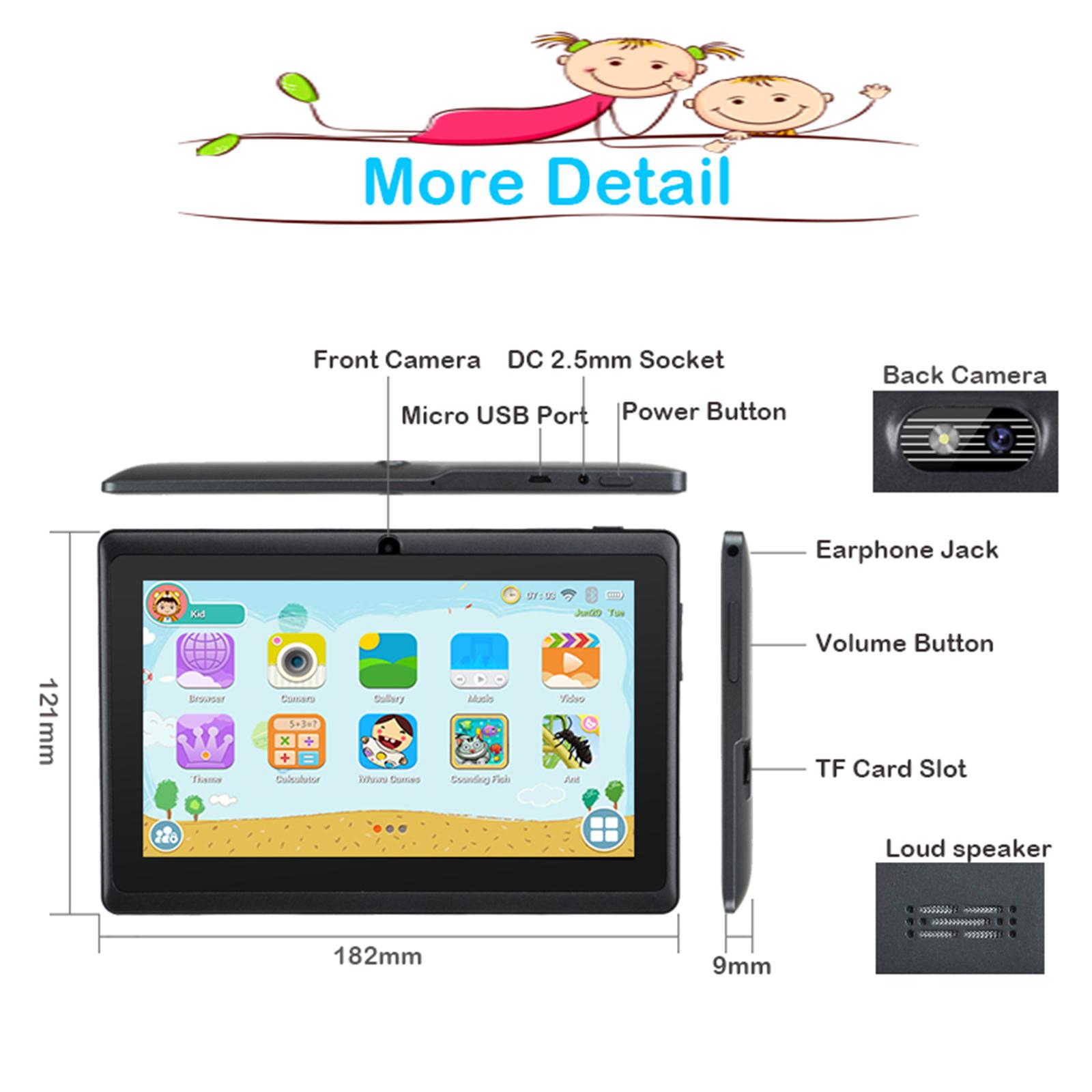 Android-8-1-7-Pulgadas-HD-Tableta-Infantil-ninos-QuadCore-1-16GB-XGODY-Tablet-PC miniatura 9