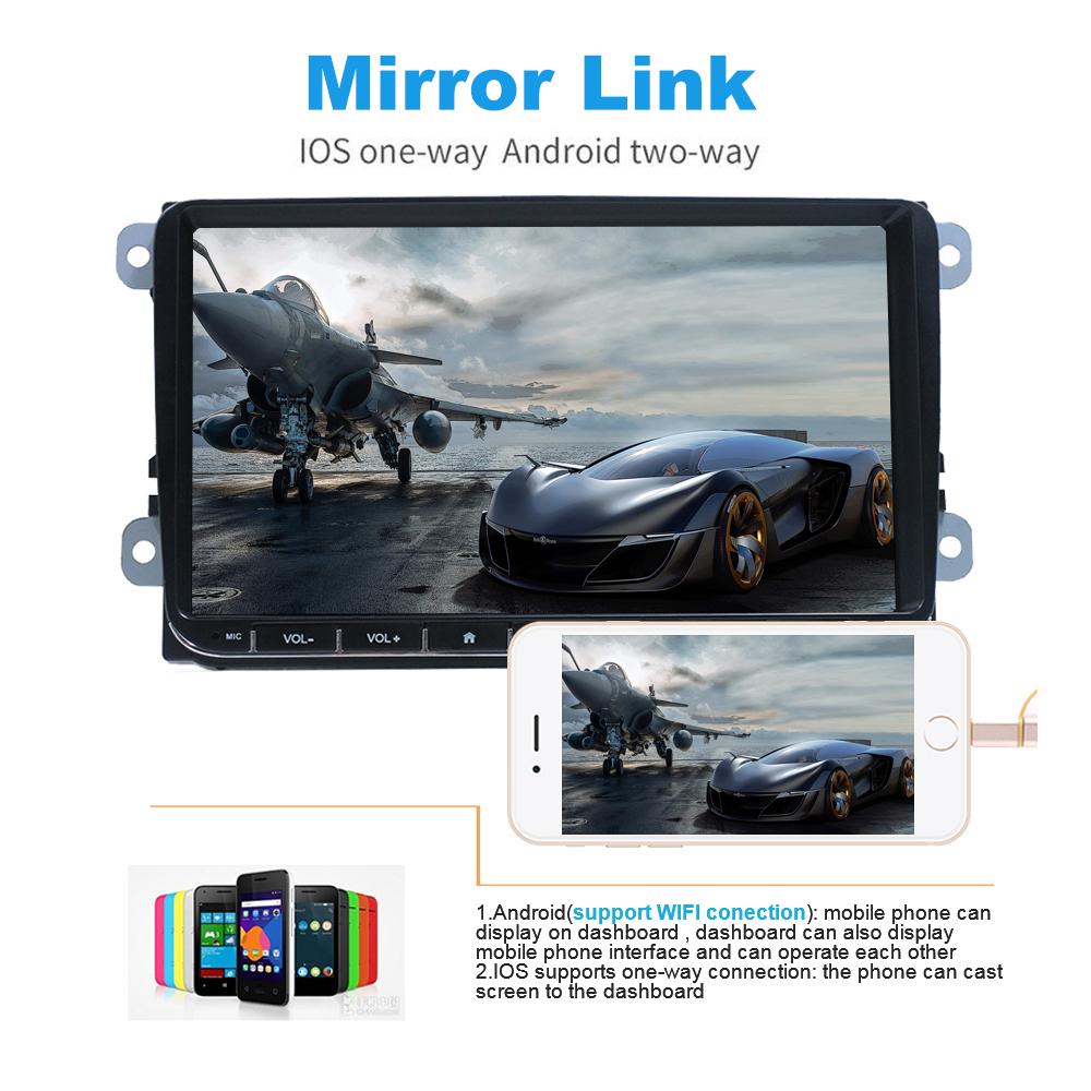 9-034-Autoradio-Android-8-1-Stereo-GPS-Navi-BT-Mirror-For-VW-GOLF-5-6-Passat-Varian miniatura 6