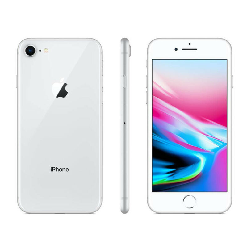 Apple-iPhone-8-64Go-Argente-Debloque-Smartphone-Telephones-Garantie-iOS miniature 3
