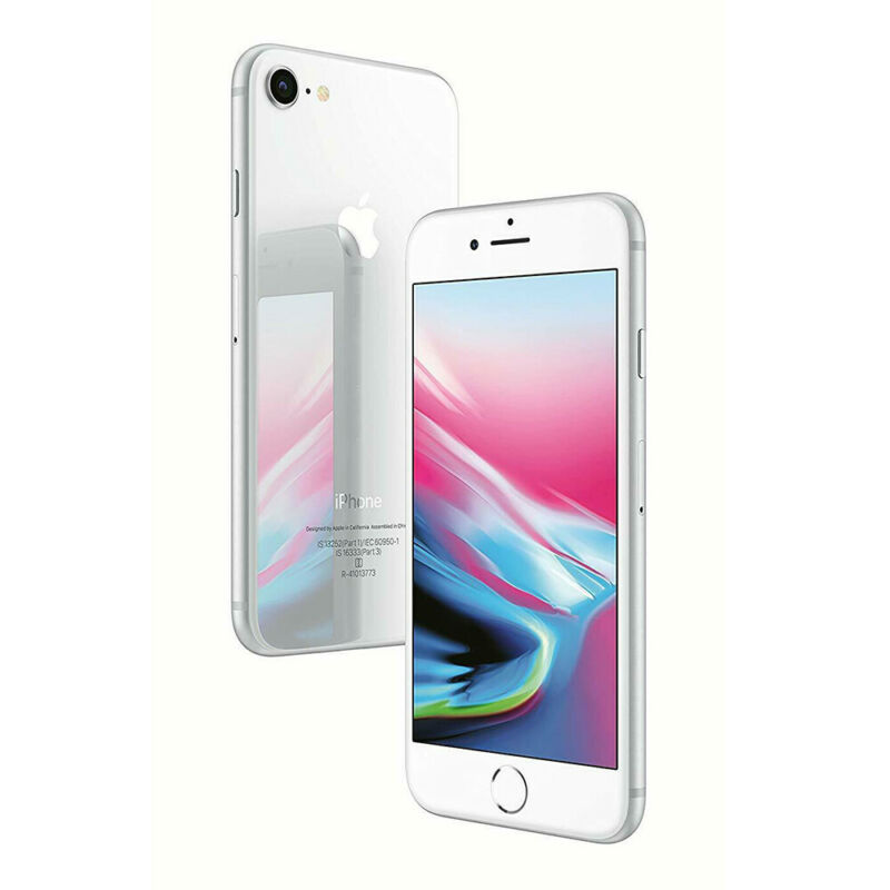 Apple-iPhone-8-64Go-Argente-Debloque-Smartphone-Telephones-Garantie-iOS miniature 4