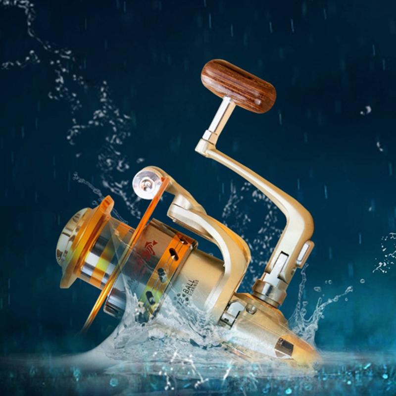 12BB Salzwasser Spinnrollen Süßwasser Vollmetall Kugellager Angelrolle EF1000-70