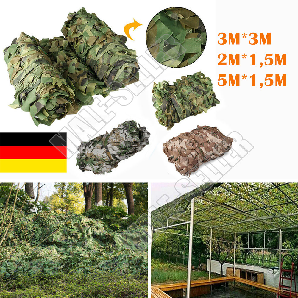 Tarnnetz flecktarn Bundeswehr Armee Netz Tarnung Dekonetz Größewahl 4*5m