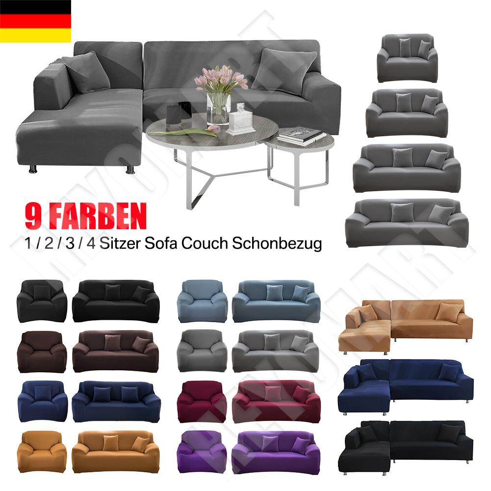 Sofabezug stretch elastische Sofahusse Abdeckung Für L Form Schnittsofa 3 Farben