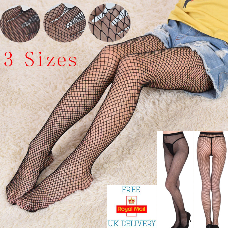 6783f7d5bac31 Details about Women Sexy Fishnet Stockings Hollow Stretchy Tights Seamless  Net Pantyhose Black