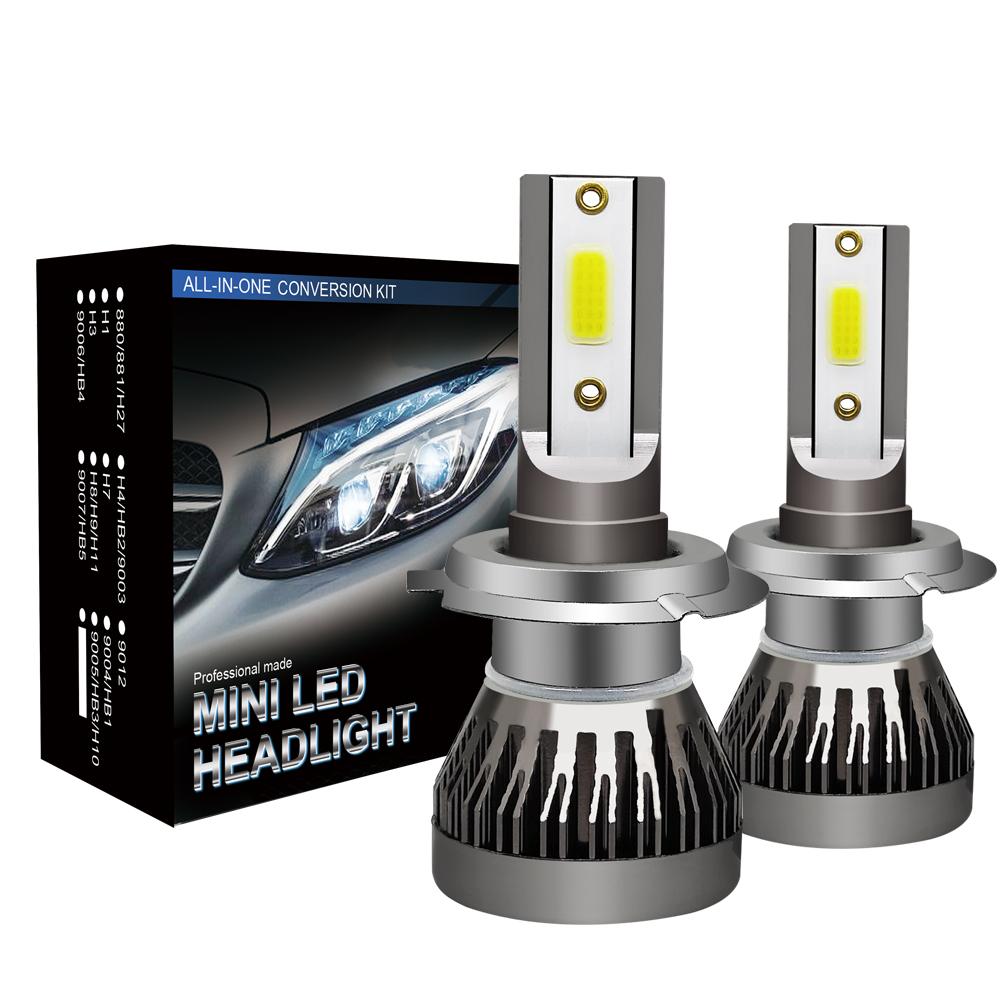 2x h7 72w led lampadine del faro kit bulbi auto luci 6000k for Lampadine h7 led