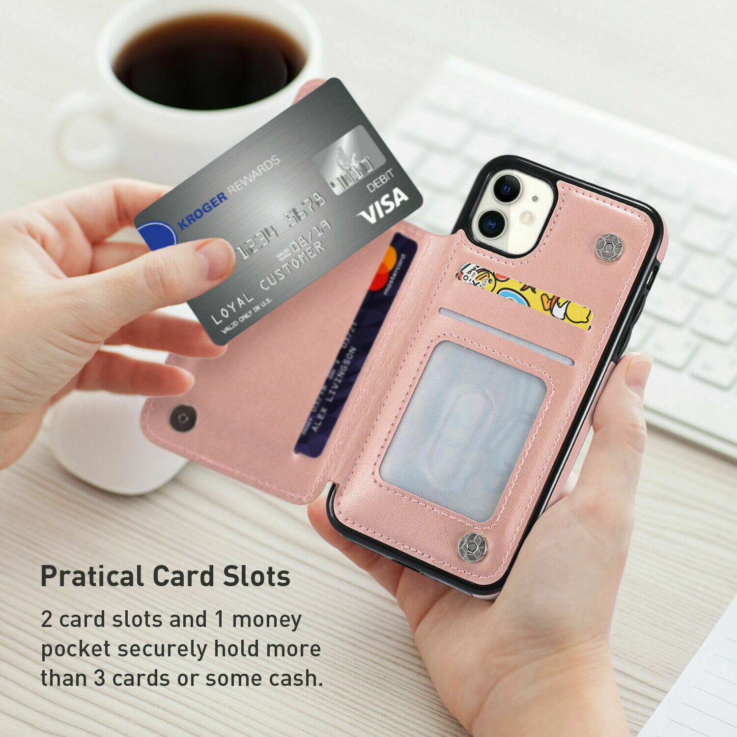 thumbnail 31 - Leather Flip Wallet Card Holder Case Cover For Samsung Galaxy S20 S10 S9 A21s 51