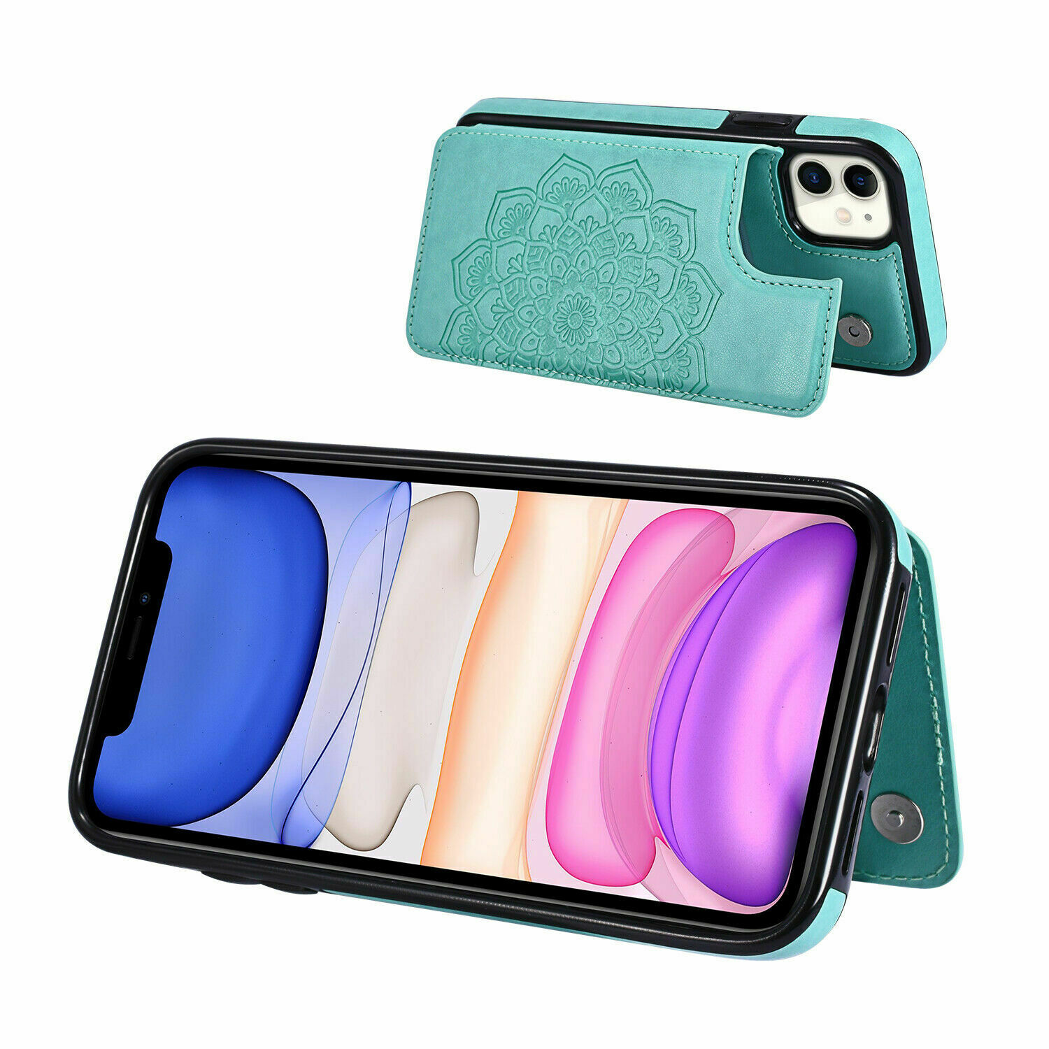 thumbnail 12 - Leather Flip Wallet Card Holder Case Cover For Samsung Galaxy S20 S10 S9 A21s 51