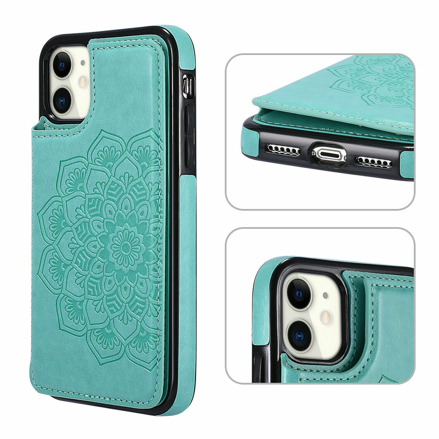 thumbnail 13 - Leather Flip Wallet Card Holder Case Cover For Samsung Galaxy S20 S10 S9 A21s 51