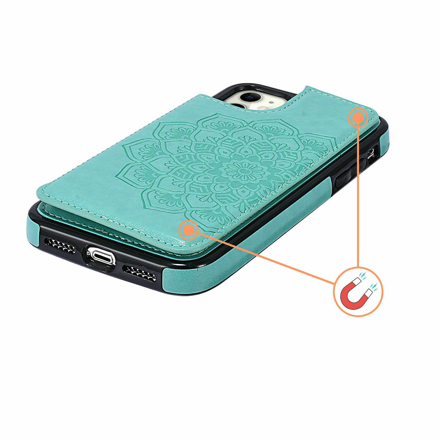 thumbnail 16 - Leather Flip Wallet Card Holder Case Cover For Samsung Galaxy S20 S10 S9 A21s 51