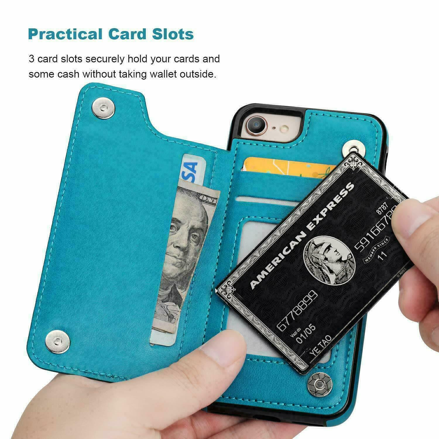 thumbnail 20 - Leather Flip Wallet Card Holder Case Cover For Samsung Galaxy S20 S10 S9 A21s 51