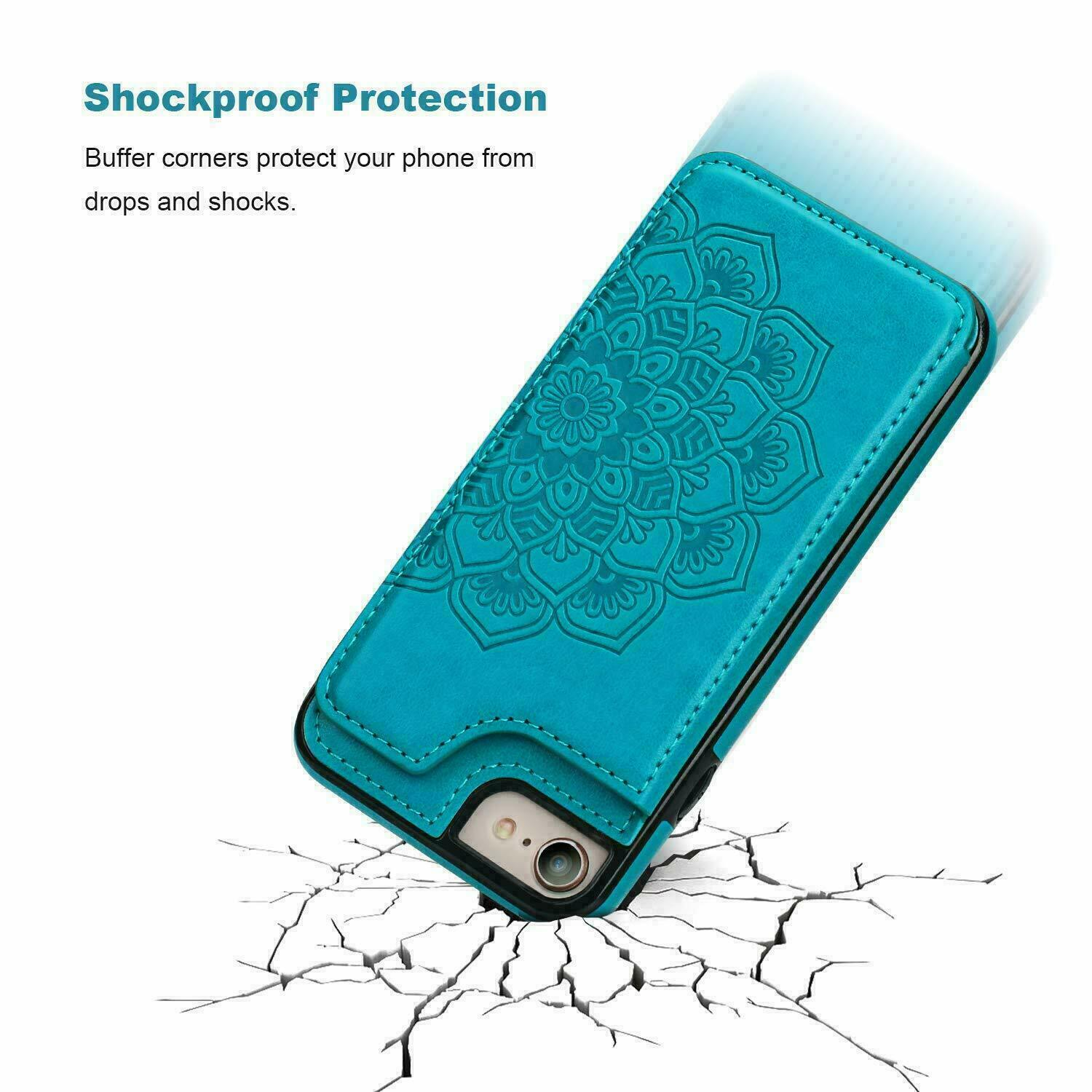 thumbnail 21 - Leather Flip Wallet Card Holder Case Cover For Samsung Galaxy S20 S10 S9 A21s 51