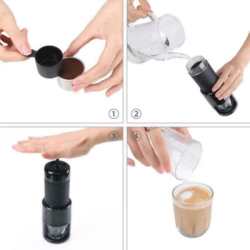 STARESSO SP-200 Tragbar Manuelle Kaffeemaschine Cappucinomaschinen 80mL 25 bar